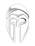 White Helmet Mask Stock Photo