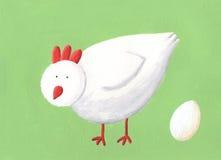 White hen Stock Image