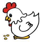 White hen Stock Images