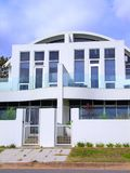 White Henley Beach House 3. Photo of a modern beachhouse at Henley Beach with an arched-roof design royalty free stock images