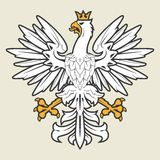 White heraldic eagle Royalty Free Stock Photography