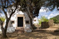 White Hermitage s. XVII. In San Francisco, Costa Brava, Blanes,Girona,Catalonia,Spain Royalty Free Stock Images