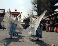 White heron dance Stock Photo