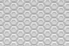 White hexagon Honeyomb modern technology black abstract 3d  back Stock Photo
