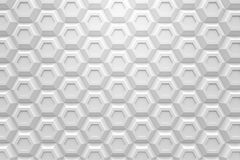 White hexagon Honeyomb modern technology black abstract 3d  back. Ground Stock Photos