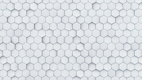 White hexagon pattern abstract 3D render Royalty Free Stock Photography