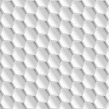 White hexagon pattern background Stock Image