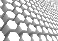 White hexagon pattern Stock Photography