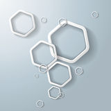 White Hexagon Ring Bubbles Royalty Free Stock Photos