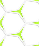 White hexagonal net and green stars seamless pattern Stock Images