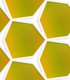 White hexagonal net with mesh seamless pattern Royalty Free Stock Photo