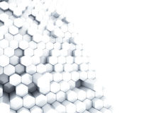 White hexagons Royalty Free Stock Photography