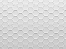 White hexagons abstract background image. Royalty Free Stock Photography