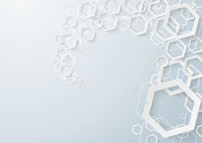 White Hexagons Dust Royalty Free Stock Image
