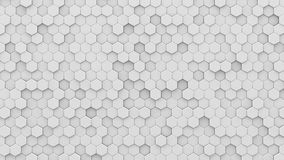 White hexagons mosaic 3D render Stock Photography