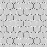 White hexagons of stone, steel. Seamless vector texture. Technology seamless pattern. Royalty Free Stock Images