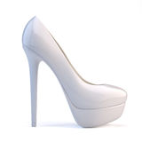 White high heel shoes Stock Photo