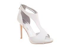 White high heel woman shoe Stock Photos