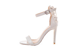 White high heel woman shoe Stock Photo