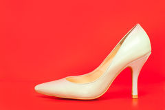 White high heels shoes Royalty Free Stock Images