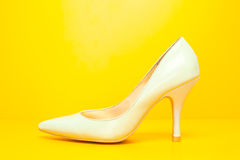 White high heels shoes Royalty Free Stock Photography