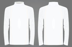 White high neck long sleeve t shirt Stock Photo