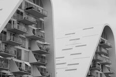 White High Rise Building Stock Images