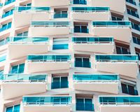 White High Storey Building Stock Images