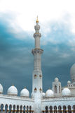 White history heritage islamic monument mosque in abu dhabi Stock Photos