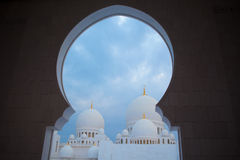 White history heritage islamic monument mosque in abu dhabi Royalty Free Stock Photo