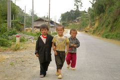 White Hmong ethnic children Stock Photo