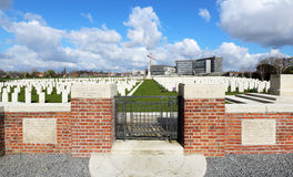 White Hoiuse WW1 Cemetery, Belgium Royalty Free Stock Image