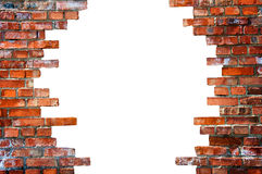 White hole in the brick wall Stock Photos