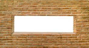 White hole on brickwall Royalty Free Stock Photo