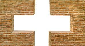White hole on brickwall background Royalty Free Stock Photos