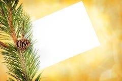 White holiday envelope Stock Photography