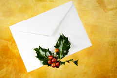White holiday envelope Stock Photos