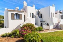 White holiday villa houses Royalty Free Stock Image