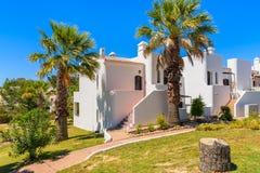 White holiday villa houses Stock Photos