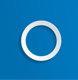 White Hollow Circle Against Blue Background Royalty Free Stock Photo