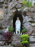 White holy Mary sculpture, Lithuania Royalty Free Stock Photography