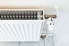 White home heat radiator Stock Photography
