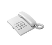 White Home Phone Isolated Royalty Free Stock Photos