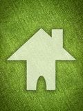 White home shape on grunge green background Royalty Free Stock Images