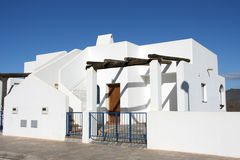 White home in Spain stock photos
