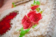 Wedding Cake With Candy Sugar Flowers Stock Image Image