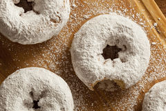 White Homemade Powdered Donuts Stock Image