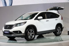 White Honda CRV Royalty Free Stock Photo