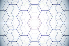 White honeycomb background. Abstract white honeycomb background. Technology concept. 3D Rendering Stock Images