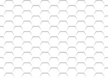 White Honeycomb Grid Texture Royalty Free Stock Images